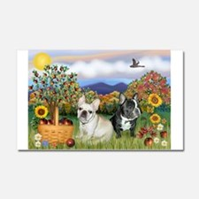 French Bulldog Picnic Car Magnet 20 x 12