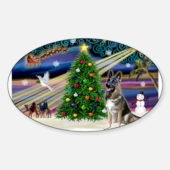 Xmas Magic-G-Shep #7 Sticker (Oval)