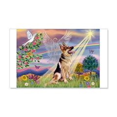 Cloud Angel & G-Shepherd #1 22x14 Wall Peel