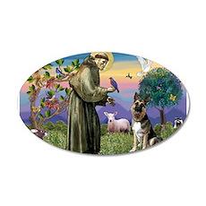 Saint Francis & G-Shepherd #3 22x14 Oval Wall