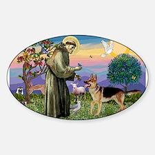 St Francis / G Shep Sticker (Oval)