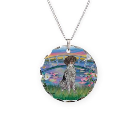 Lilies / Ger SH Pointer Necklace Circle Charm
