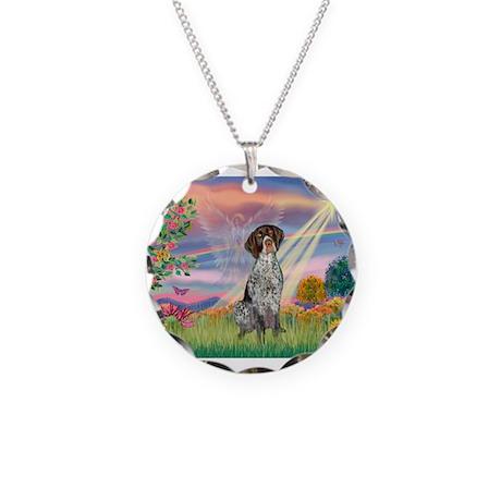 Cloud Angel / German SH Point Necklace Circle Char