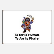 To Arr Is Pirate Cartoon Banner