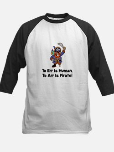 To Arr Is Pirate Cartoon Kids Baseball Jersey