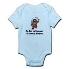 To Arr Is Pirate Cartoon Infant Bodysuit