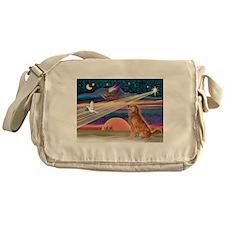 Xmas Star & G Retriever Messenger Bag