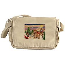 Santa's Golden Treat Messenger Bag