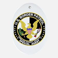 CTU US Border Patrol SpAgent Oval Ornament