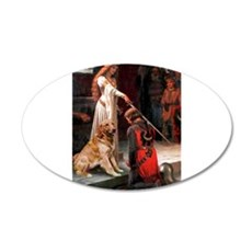The Princess's Golden 22x14 Oval Wall Peel