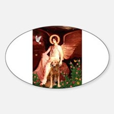 Seated ANgel & GOlden Sticker (Oval)