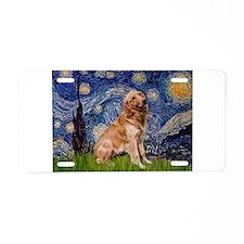Starry / Golden (B) Aluminum License Plate
