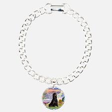 Cloud Angel & Gordon Setter Bracelet