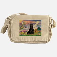 Cloud Angel & Gordon Setter Messenger Bag