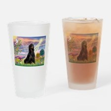 Cloud Angel & Gordon Setter Drinking Glass