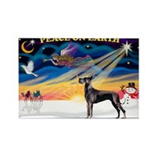 XmasSunrise/Great Dane (bl) Rectangle Magnet (10 p