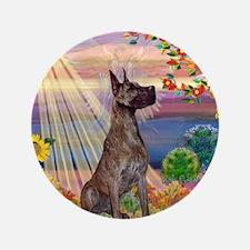 "Autumn Angel / Brindle G-Dane 3.5"" Button"