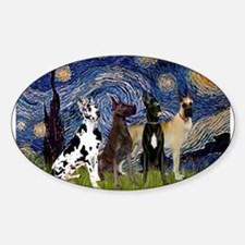 Starry Night / 4 Great Danes Decal