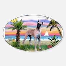 Great Dane in Palms Trees Decal