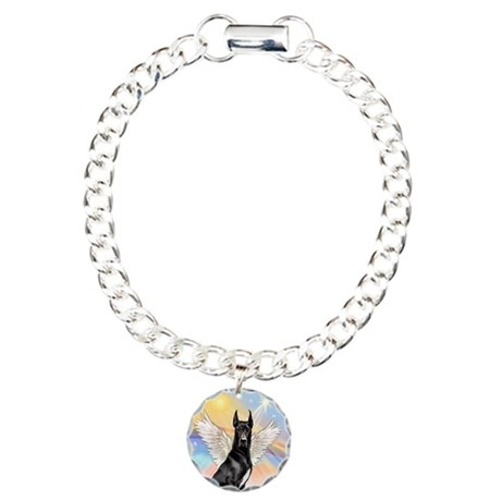 W-Great Dane Angel Charm Bracelet, One Charm
