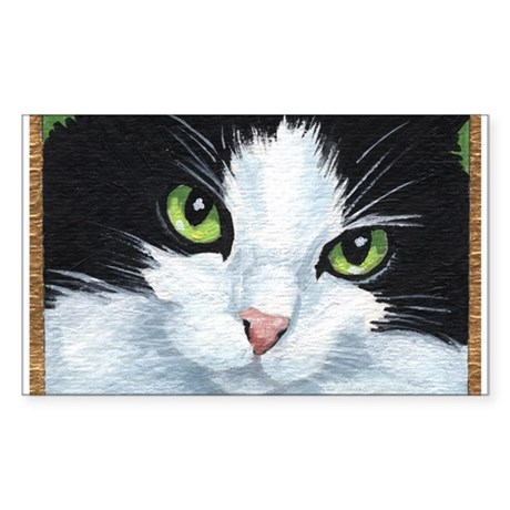Kitty Eyes Rectangle Sticker