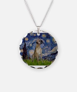 Starry Night Great Dane (13) Necklace