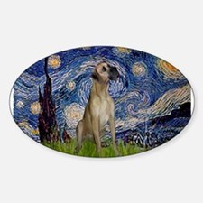 Starry Night Great Dane (13) Decal