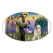 St. Francis & Great Pyrenees Decal