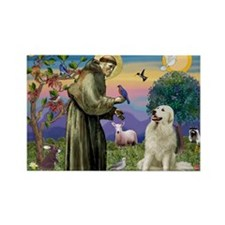 St. Francis & Great Pyrenees Rectangle Magnet (10