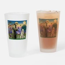 St. Francis & Great Pyrenees Drinking Glass