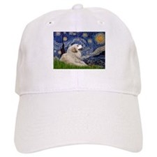 Starry Night Great Pyrenees Baseball Cap
