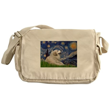 Starry Night Great Pyrenees Messenger Bag