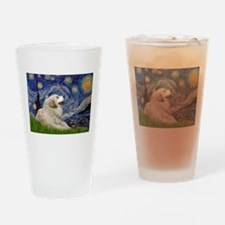 Starry Night Great Pyrenees Drinking Glass