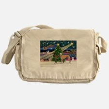 XmasMagic/2Greyhounds Messenger Bag