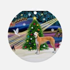 XmasMagic/Greyhound (rd) Ornament (Round)