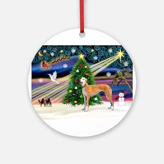 XmasMagic/Greyhound (rd) Ornament (Round)