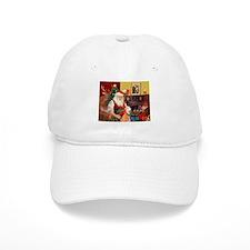 Santa's Greyhound pair Baseball Cap