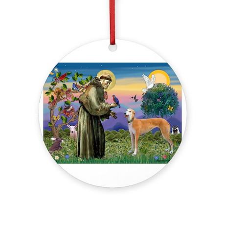 St Francis / Greyhound (f) Ornament (Round)