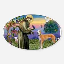 St Francis / Greyhound (f) Decal