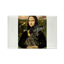 Mona's brindle Greyhound Rectangle Magnet