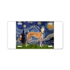 Cute Starry night greyhounds Aluminum License Plate