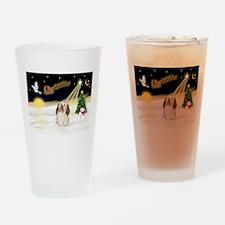 Night Flight/Havanese Drinking Glass