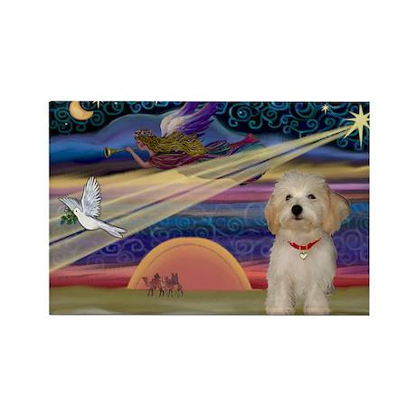 XmasStar Havanese pup Rectangle Magnet (10 pack)
