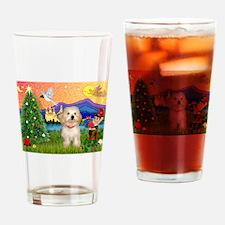 XmasFantasy / Havanese Drinking Glass