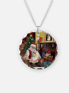 Santa's Havanese Necklace