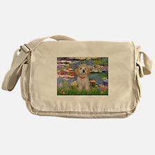 Lilies & Havanese Pup Messenger Bag