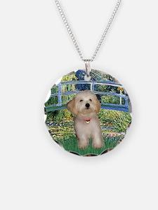 Bridge & Havanese pup Necklace