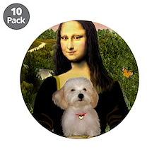 "Mona's Havanese Puppy 3.5"" Button (10 pack)"