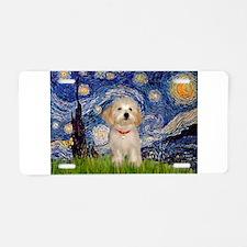 Starry Night Havanese Pup Aluminum License Plate