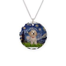 Starry Night Havanese Pup Necklace